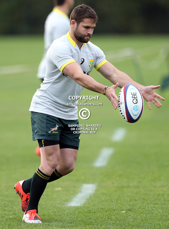 LONDON, ENGLAND - NOVEMBER 10: Cobus Reinach during the South African National rugby team training session at Latymer Upper School Sports Grounds on November 10, 2014 in London, England. (Photo by Steve Haag/Gallo Images)