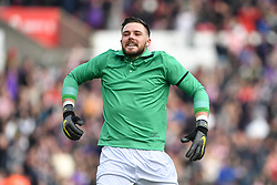 February 23, 2019 - Stoke On Trent, England, United Kingdom - Jack Butland (1) of Stoke City celebrates after his side scored a goal to make it during the Sky Bet Championship match between Stoke City and Aston Villa at the Britannia Stadium, Stoke-on-Trent on Saturday 23rd February 2019. (Credit Image: © Mi News/NurPhoto via ZUMA Press)