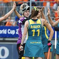 DEN HAAG - Rabobank Hockey World Cup<br /> 38 Final: Netherlands - Australia<br /> Foto: Australia before the match.<br /> COPYRIGHT FRANK UIJLENBROEK FFU PRESS AGENCY