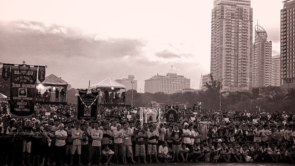 Luneta Park is filled with thousands of devotees for the Feast of the Black Nazarene.