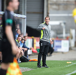 Partick Thistle's manager Alan Archibald. half time - Partick Thistle 0 v 1 Hearts, Ladbrokes Premiership match played 27/89/2016 at Firhill.