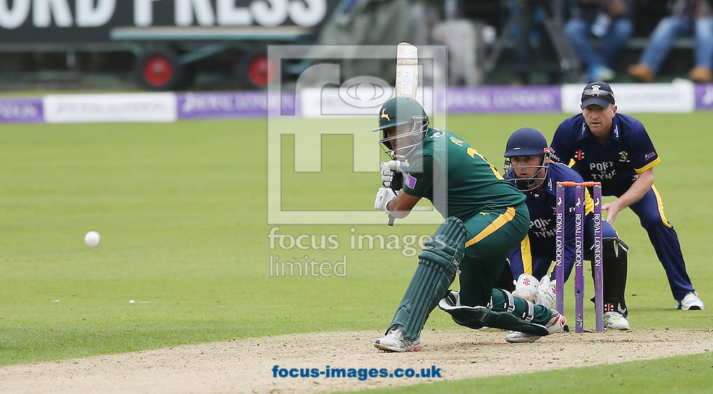 Samit Patel of Nottinghamshire Outlaws batting during the Royal London One Day Cup match at Emirates Durham ICG, Chester-le-Street<br /> Picture by Simon Moore/Focus Images Ltd 07807 671782<br /> 06/09/2014