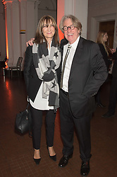 FRANK COHEN and CHERRYL COHEN at a dinner to celebrate Sir David Tang's 20 year patronage of the Royal Academy of Arts and the start of building work on the Burlington Gardens wing of the Royal Academy held at 6 Burlington Gardens, London on 26th October 2015.