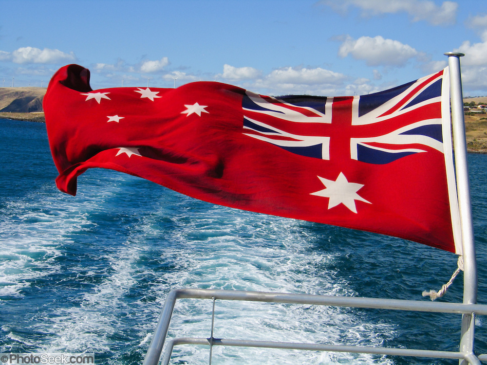 Dunk Island Has Been Rebuilt: Australian Red Ensign Is Flown By Australian-registered