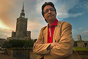 Carlos Jose Somoza, spainsh writer in center of Warsaw Poland Photo Piotr Gesicki