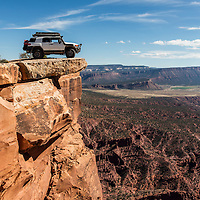 My Toyota FJ Cruiser parked at the end of the Top of the World 4x4 trail just outside Moab, Utah.