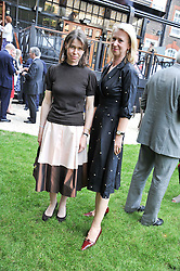 Left to right, LADY SARAH CHATTO and JOANNA JOHNSTON at a reception hosted by the Friends of the Castle of Mey held at the Goring Hotel, Beeston Place, London on 22nd May 2012.