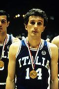 Europei Francia 1983 - Nantes: Pierluigi Marzorati medaglia d'oro