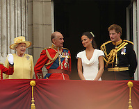 Queen Elizabeth; Prince Philip Duke Of Edinburgh; Pippa Middleton (Sister); Prince Harry William & Kate Royal Wedding, London, UK, 29 April 2011:  Contact: Rich@Piqtured.com +44(0)7941 079620 (Picture by Richard Goldschmidt)