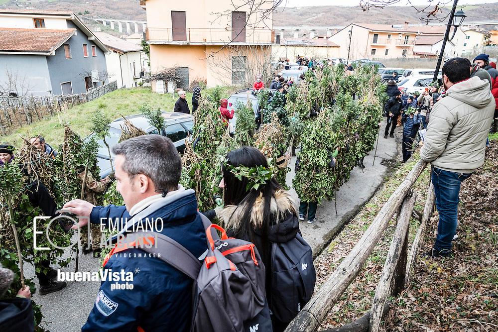 Satriano di Lucania, Basilicata, Italia, 07/02/2016<br /> I 131 Rumita e gli Orsi sfilano per il centro storico di Satriano di Lucania, a pochi chilometri da Potenza<br /> <br /> Satriano di Lucania, Basilicata, Italy, 07/02/2016<br /> The 131 Rumita (hermits) and Bears parading all around Satriano di Lucania, few kilometers far from Potenza.