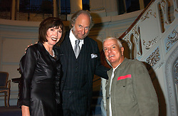 Left to right, ED & CAROL VICTOR and NICKY HASLAM at a party to celebrate the publication of 'Princesses' the six daughters of George 111 by Flora Fraser held at the Saville Club, Brook Street, London W1 on 14th September 2004.<br /><br />NON EXCLUSIVE - WORLD RIGHTS