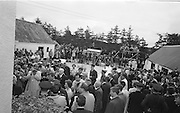 27/06/1963 - President John F. Kennedy visits his ancestral home at Dunganstown, County Wexford, Ireland.