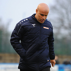 TELFORD COPYRIGHT MIKE SHERIDAN Guiseley joint boss Marcus Bignot during the Buildbase FA Trophy 3Q fixture between Guiseley and AFC Telford United at Nethermoor Park on Saturday, November 23, 2019.<br /> <br /> Picture credit: Mike Sheridan/Ultrapress<br /> <br /> MS201920-031