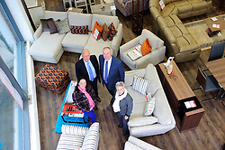 Pictured is, clockwise from bottom left, Emma Holden, Jonathan Holden, Yorkshire Bank's Commercial Relationship Manager Michael Pickles and Marion Holden <br /> <br /> Nottinghamshire furniture retailer Holdens has upgraded its premises and opened a new 7,000 square foot flagship store with funding support from Yorkshire Bank.  As the same time, Jonathan and Marion Holden are passing the running of the firm to their daughters Emma and Katie who will become the fourth generation to run the company.<br /> <br /> Date: January 22, 2016<br /> Picture: Chris Vaughan/Chris Vaughan Photography