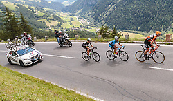07.07.2017, St. Johann Alpendorf, AUT, Ö-Tour, Österreich Radrundfahrt 2017, 5. Kitzbühel - St. Johann/Alpendorf (212,5 km), im Bild Ben O'Connor (AUS, Team Dimension Data), Riccardo Zoidl (AUT, Team Felbermayr Simplon Wels), Pieter Weening (NED, Roompot - Nederlandse Loterij) // Ben O'Connor (AUS, Team Dimension Data), Riccardo Zoidl (AUT, Team Felbermayr Simplon Wels), Pieter Weening (NED, Roompot - Nederlandse Loterij) during the 5th stage from Kitzbuehel - St. Johann/Alpendorf (212,5 km) of 2017 Tour of Austria. St. Johann Alpendorf, Austria on 2017/07/07. EXPA Pictures © 2017, PhotoCredit: EXPA/ JFK