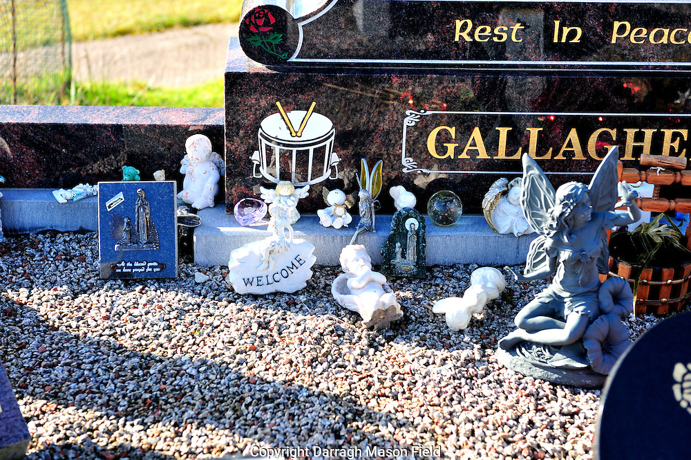Gifts left in memory of the dead at grave sites across Co. Mayo Ireland