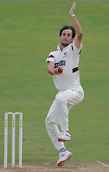 Somerset's Lewis Gregory in action.  - Mandatory byline: Alex Davidson/JMP - 07966386802 - 12/09/2015 - CRICKET - The County Ground -Taunton,England - Somerset CCC v Hampshire CCC - Day 4