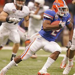 Jan 01, 2010; New Orleans, LA, USA;  Florida Gators running back Jeffery Demps (2) runs against the Cincinnati Bearcats during the first half of the 2010 Sugar Bowl at the Louisiana Superdome.  Mandatory Credit: Derick E. Hingle-US PRESSWIRE.
