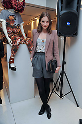 SARA BLOMQVIST at the Mother of Pearl Launch at The Other Criteria, 36 New Bond Street, London W1 on 12th April 2011.