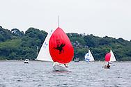 _V0A8088. ©2014 Chip Riegel / www.chipriegel.com. The 2014 Bullseye Class National Regatta, Fishers Island, NY, USA, 07/19/2014. The Bullseye is a Nathaniel Herreshoff designed 15' Marconi rig sailing boat.