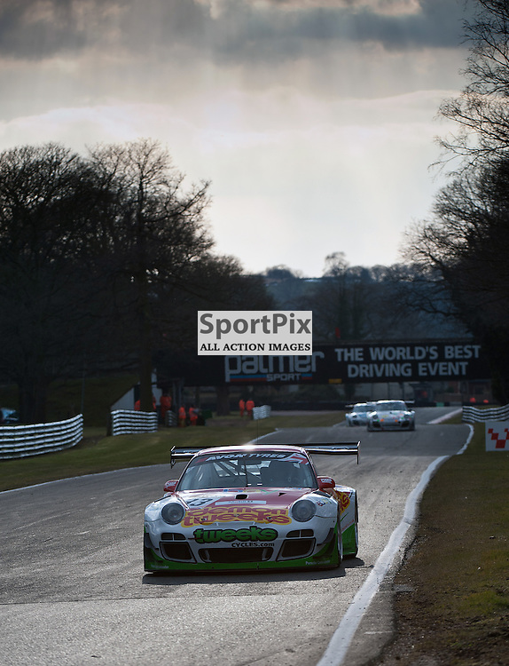 Trackspeed, Jon Minshaw & Phil Keen, Porsche 997GT3R, GT3 - during qualifying at the first round of the Avon Tyres British GT Championship held at Oulton Park, Cheshire, UK.  30th March 2013 WAYNE NEAL | STOCKPIX.EU