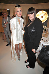 Left to right, Daphne Guinness and Kate Mulleavy at a dinner in honour of design label Rodarte held at the Fifth Floor Restaurant, Harvey Nichols, Knightsbridge, London on 3rd June 2009.
