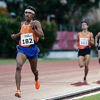 Zachary Ryan Devaraj of National University of Singapore leads the field during the men's 1500m event. (Photo &copy; Lim Yong Teck/Red Sports) The 2018 Institute-Varsity-Polytechnic Track and Field Championships were held over three days in January.<br />