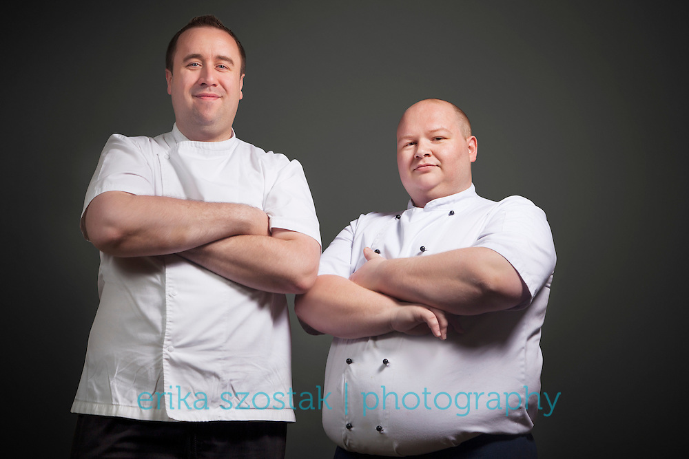 Chef portraits of Andrew Scott and Nick Bennett of Sudbury House Restaurant 56