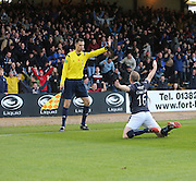 David Clarkson celebrates after scoring  - Dundee v Hamilton, SPFL Premiership at Dens Park<br /> <br />  - &copy; David Young - www.davidyoungphoto.co.uk - email: davidyoungphoto@gmail.com