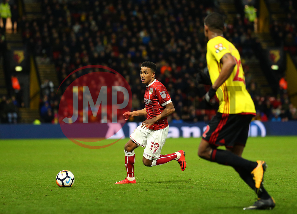 Niclas Eliasson of Bristol City runs with the ball - Mandatory by-line: Robbie Stephenson/JMP - 06/01/2018 - FOOTBALL - Vicarage Road - Watford, England - Watford v Bristol City - Emirates FA Cup third round proper