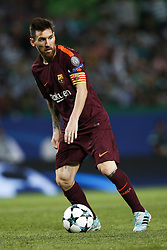 September 27, 2017 - Lisbon, Portugal - Barcelona's forward Lionel Messi in action during  the Champions League 2017/18 match between Sporting CP vs FC Barcelona, in Lisbon, on September 27, 2017. (Credit Image: © Carlos Palma/NurPhoto via ZUMA Press)