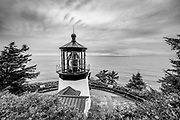 View of the Cape Mears Lighthouse and Pacific Ocean, near Tillamook, Oregon