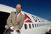 10/10/07 3:52:13 PM -- Atlanta, GA, U.S.A<br />  -- Richard Anderson, CEO of Delta Airlines with 757<br /> <br /> Photo by Michael  A. Schwarz, USA TODAY contract photographer