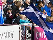 Scotland fan during Scotland Under-21 v FYR Macedonia,  UEFA Under 21 championship qualifier  at Tynecastle, Edinburgh. Photo: David Young<br /> <br />  - © David Young - www.davidyoungphoto.co.uk - email: davidyoungphoto@gmail.com