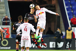 March 13, 2018 - Harrison, NJ, U.S. - HARRISON, NJ - MARCH 13:  New York Red Bulls midfielder Florian Valot (22) during the second half of the CONCACAF Champions League Quarter-final match between the New York Red Bulls and Club Tijuana on March 13, 2018, at Red Bull Arena in Harrison, NJ.  (Photo by Rich Graessle/Icon Sportswire) (Credit Image: © Rich Graessle/Icon SMI via ZUMA Press)