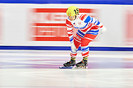 Graz, Austria - 2017 March 24: Praskovia Iakovleva from SO from Russia (159) competes in Speed Skating 333 meters race while Special Olympics World Winter Games Austria 2017 at Icestadium Graz Liebenau on March 24, 2017 in Graz, Austria.<br /> <br /> Mandatory credit:<br /> Photo by © Adam Nurkiewicz / Mediasport<br /> <br /> Adam Nurkiewicz declares that he has no rights to the image of people at the photographs of his authorship.<br /> <br /> Picture also available in RAW (NEF) or TIFF format on special request.<br /> <br /> Any editorial, commercial or promotional use requires written permission from the author of image.<br /> <br /> Image can be used in the press when the method of use and the signature does not hurt people on the picture.