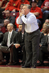 25 February 2015:   Barry Hinson during an NCAA MVC (Missouri Valley Conference) men's basketball game between the Southern Illinois Salukis and the Illinois State Redbirds at Redbird Arena in Normal Illinois