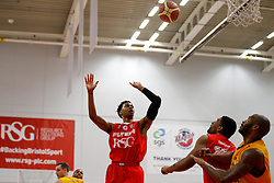 Bryquis Perine of Bristol Flyers - Photo mandatory by-line: Rogan Thomson/JMP - 07966 386802 - 07/03/2015 - SPORT - BASKETBALL - Bristol, England - SGS Wise Arena - Bristol Flyers v Sheffield Sharks - BBL Championship.