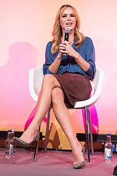 © Licensed to London News Pictures. 11/10/2018. London, UK. Amanda Holden in conversation at the Festival of Marketing held at Tobacco Dock. Photo credit: Ray Tang/LNP
