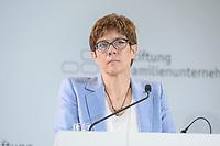 28 JUN 2019, BERLIN/GERMANY:<br /> Annegret Kramp-Karrenbauer, CDU Parteivorsitzende, haelt eine Rede auf dem Tag des Deutschen Familienunternehmens, Hotel Adlon<br /> IMAGE: 20190628-01-076<br /> KEYWORDS: AKK