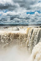 At 80m high the Devils Throat is the tallest waterfall at Iguazu.