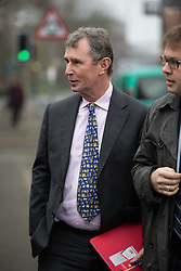 © Licensed to London News Pictures . 13/03/2014 . Preston , UK . The MP for Ribble Valley , NIGEL EVANS , arrives at Preston Crown Court today (Thursday 13th March 2014) . Evans is charged with two counts of indecent assault , six counts of sexual assault and one count of rape , all of which he denies . Photo credit : Joel Goodman/LNP