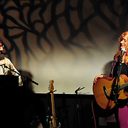 Live at The Loft radio host Bob Lord interviews singer Patty Larkin during a show at The Loft in Portsmouth, NH