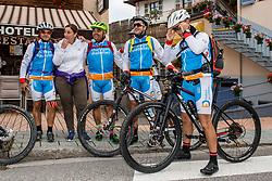 10-09-2017 FRA: BvdGF Tour du Mont Blanc day 2, St. Gervais<br /> Omgeven door imposante bergtoppen en vergezichten rijden we over mooie paden en trails naar de plaats St. Gervais waar we overnachten /