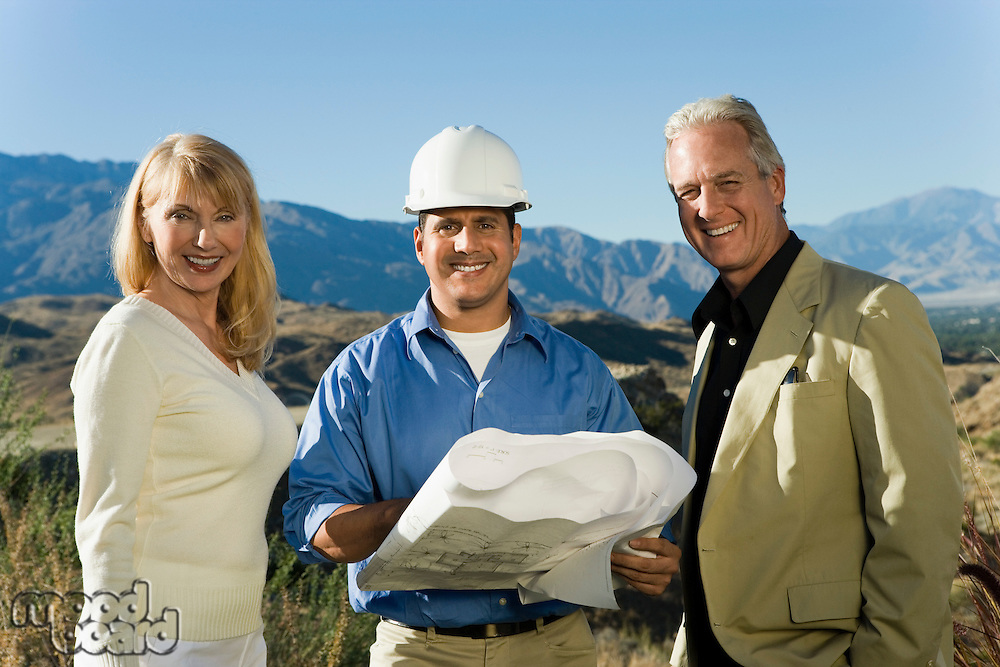 Home Builder with Couple Building New Home