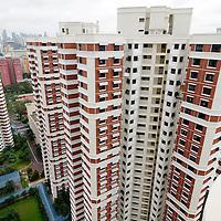 SGP, Singapur : Apartmentblocks / Wohnblocks in Singapur. |SGP, Singapore : Residential buildings in Singapore|. 10.02.2013 .Copyright by : Rainer UNKEL , Tel.: 0171/5457756