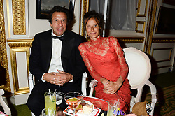 IMRAN KHAN and the MARCHIONESS OF WORCESTER at The Animal Ball in aid of The Elephant Family held at Lancaster House, London on 9th July 2013.