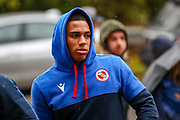 Reading midfielder Andy Rinomhota (8) arrives ahead of the EFL Sky Bet Championship match between Reading and Luton Town at the Madejski Stadium, Reading, England on 9 November 2019.