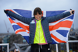 Davina Mccall at the BT Sport Relief Challenge Photocall. London, United Kingdom. Friday, 14th February 2014. Picture by Chris Joseph / i-Images