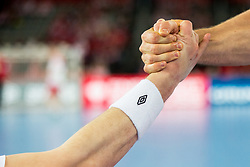 Hands during handball match between National teams of Sweden and Norway on Day 7 in Main Round of Men's EHF EURO 2018, on January 24, 2018 in Arena Zagreb, Zagreb, Croatia.  Photo by Vid Ponikvar / Sportida
